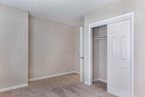 Bedroom with Sliding Closet Door